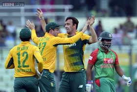 South Africa thrashed Bangladesh comprehensively in the first T20 international
